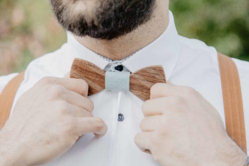Edle Stadtholz Holzfliege für Hochzeit